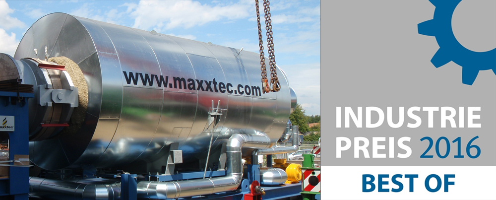 MAXXTEC Honored with Industriepreis – Best of 2016: Energy & Environment